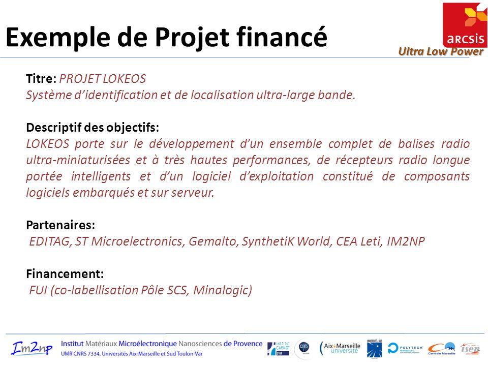 Exemple de Projet financé
