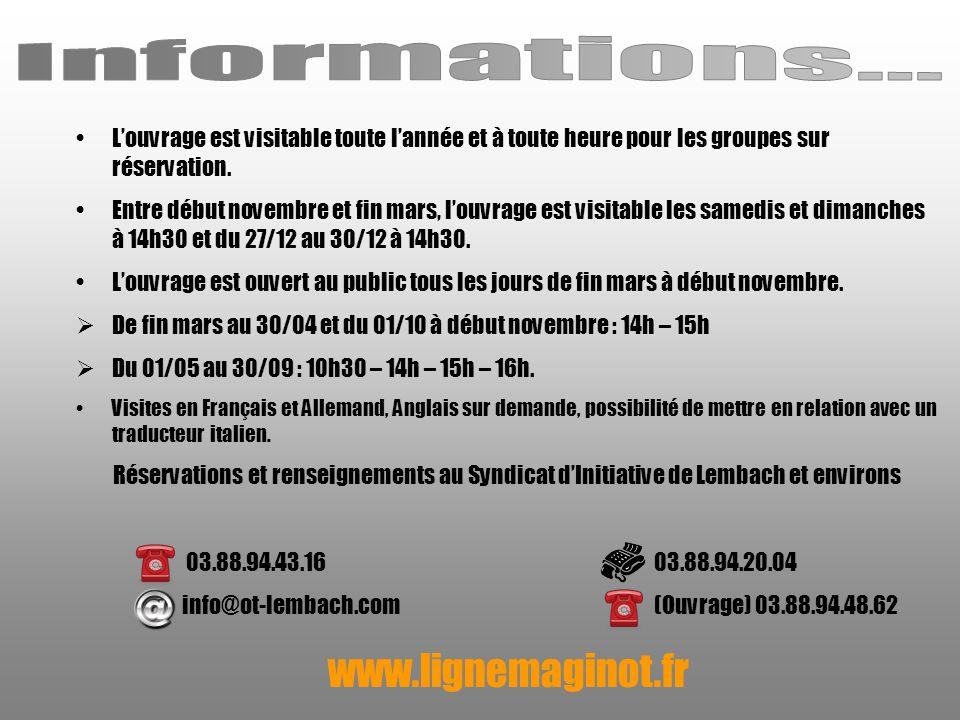 Informations... www.lignemaginot.fr
