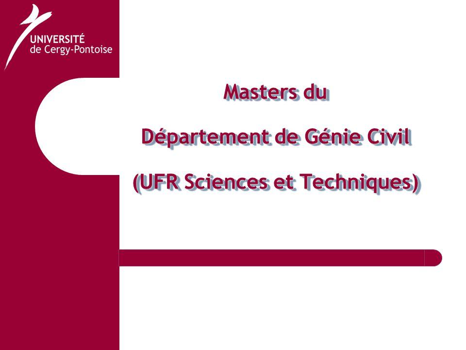 Masters du Département de Génie Civil (UFR Sciences et Techniques)