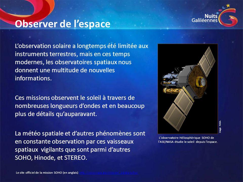 Observer de l'espace