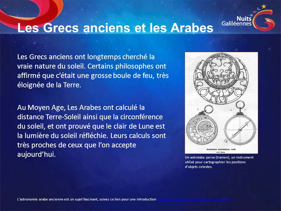 Les Grecs anciens et les Arabes