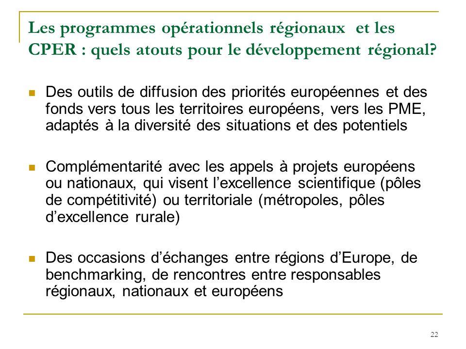 Les programmes opérationnels régionaux et les CPER : quels atouts pour le développement régional