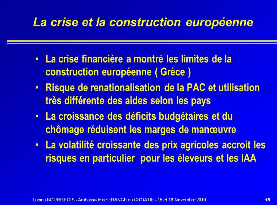 La crise et la construction européenne