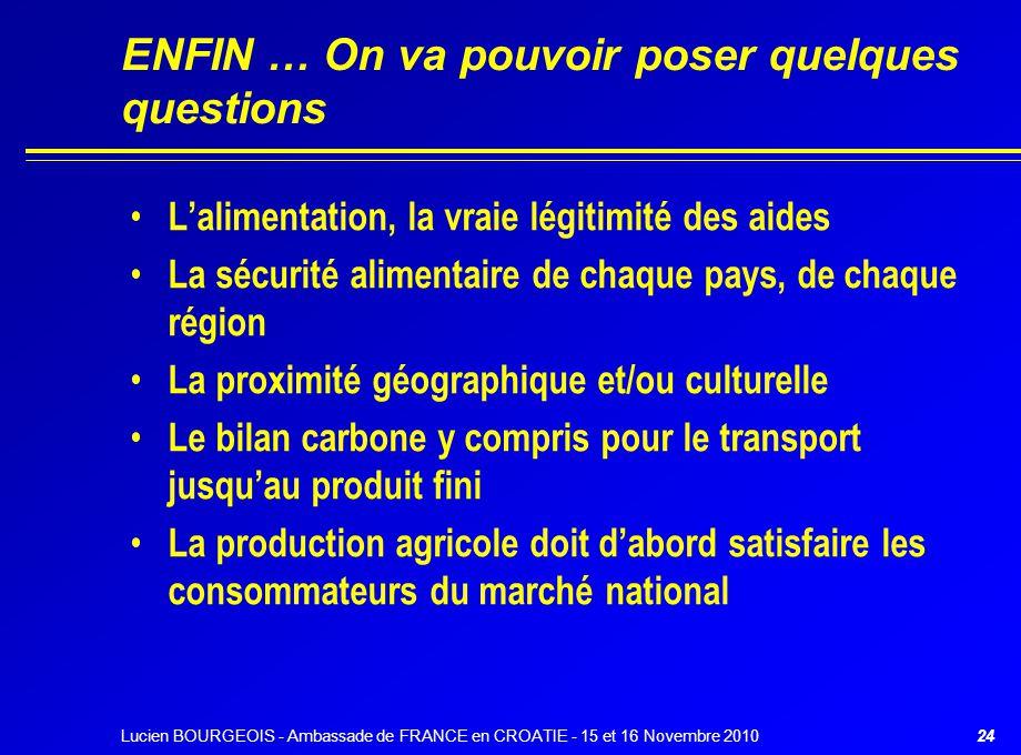 ENFIN … On va pouvoir poser quelques questions