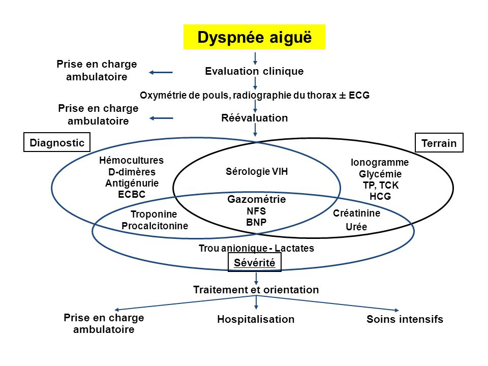 Dyspnée aiguë Prise en charge ambulatoire Evaluation clinique
