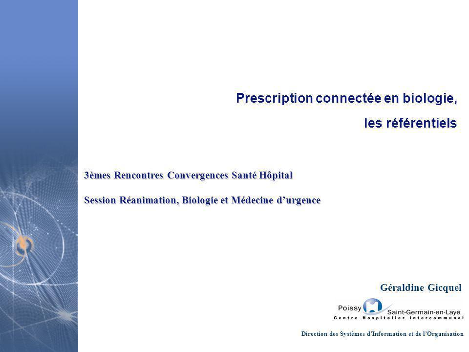 Prescription connectée en biologie, les référentiels