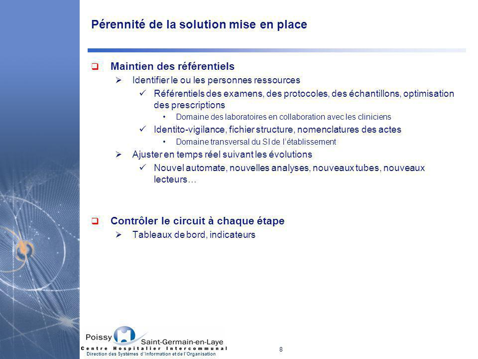 Pérennité de la solution mise en place