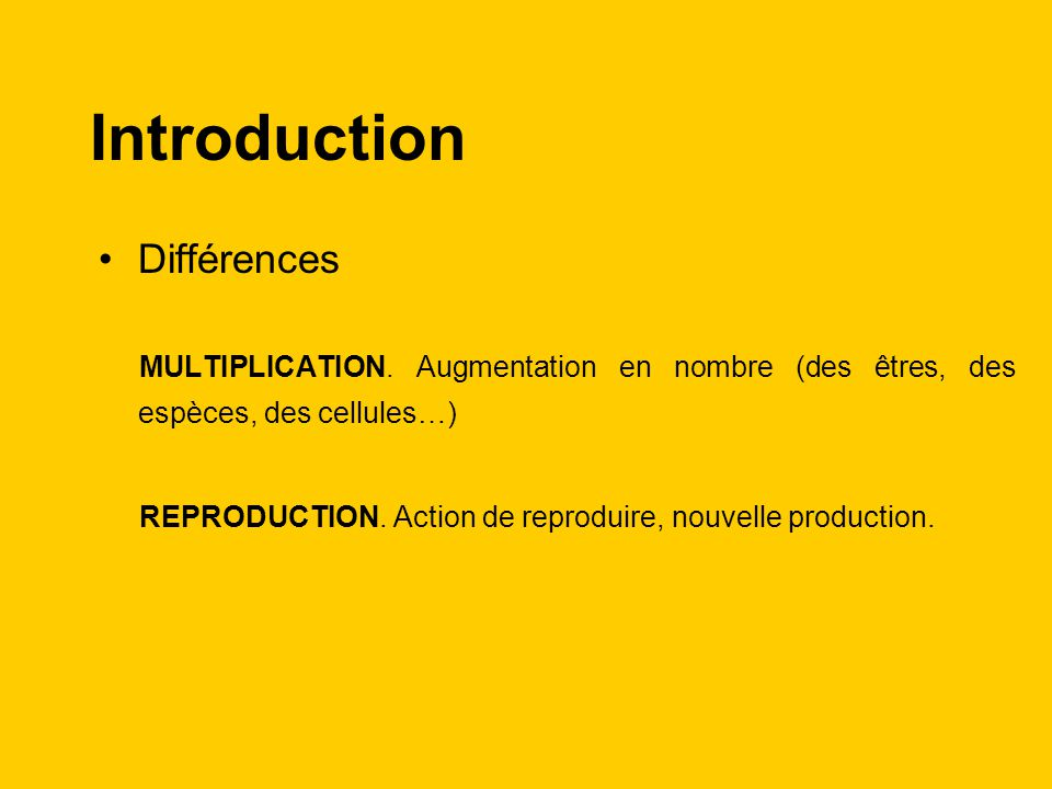 Introduction Différences