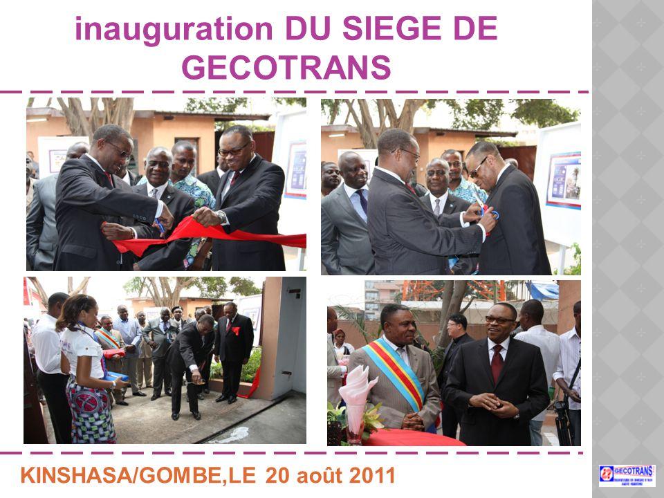 inauguration DU SIEGE DE GECOTRANS