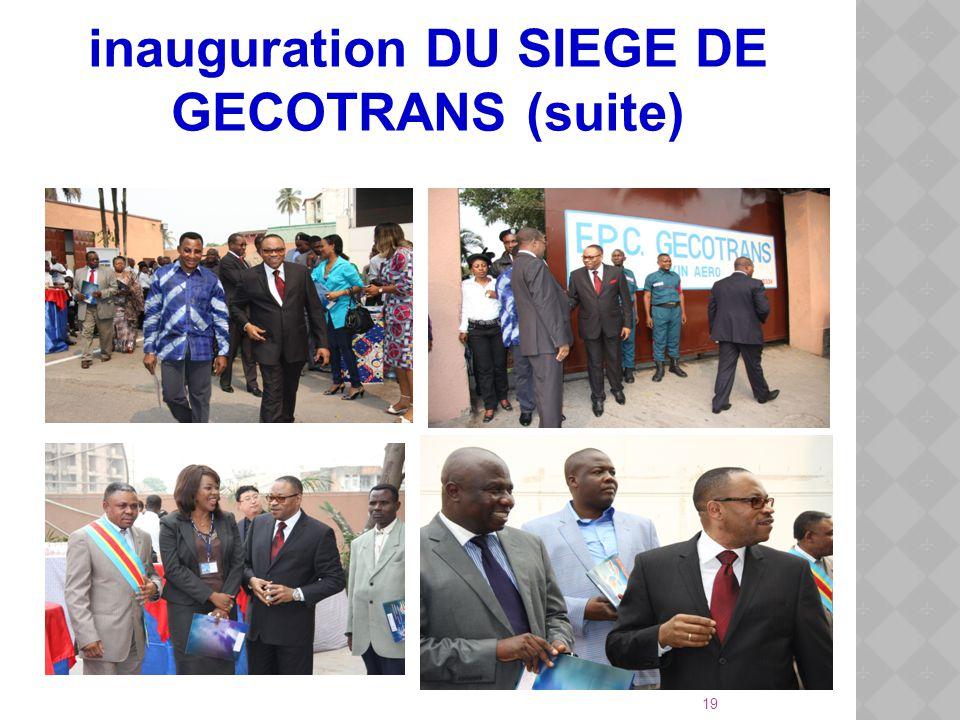 inauguration DU SIEGE DE GECOTRANS (suite)