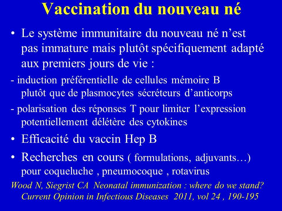 Vaccination du nouveau né