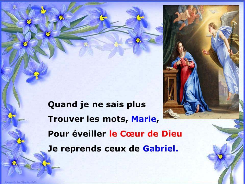 Pour éveiller le Cœur de Dieu Je reprends ceux de Gabriel.