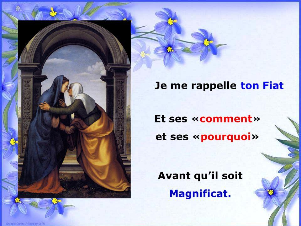 Et ses «comment» et ses «pourquoi» Avant qu'il soit Magnificat.