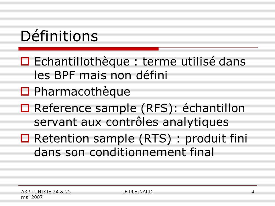 Définitions Echantillothèque : terme utilisé dans les BPF mais non défini. Pharmacothèque.