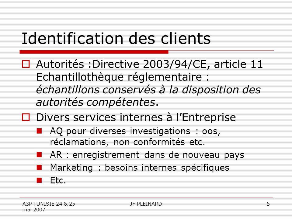 Identification des clients