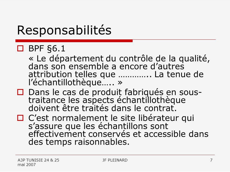 Responsabilités BPF §6.1.