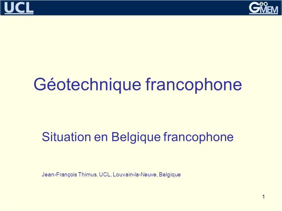 Géotechnique francophone