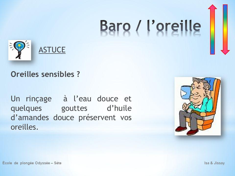 Baro / l'oreille ASTUCE Oreilles sensibles