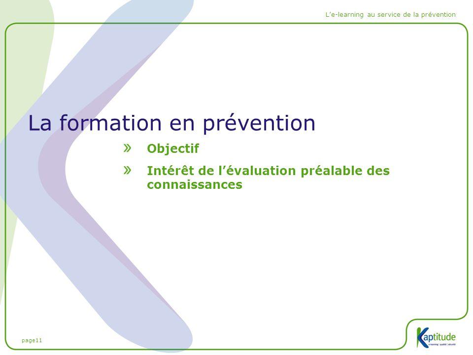 La formation en prévention