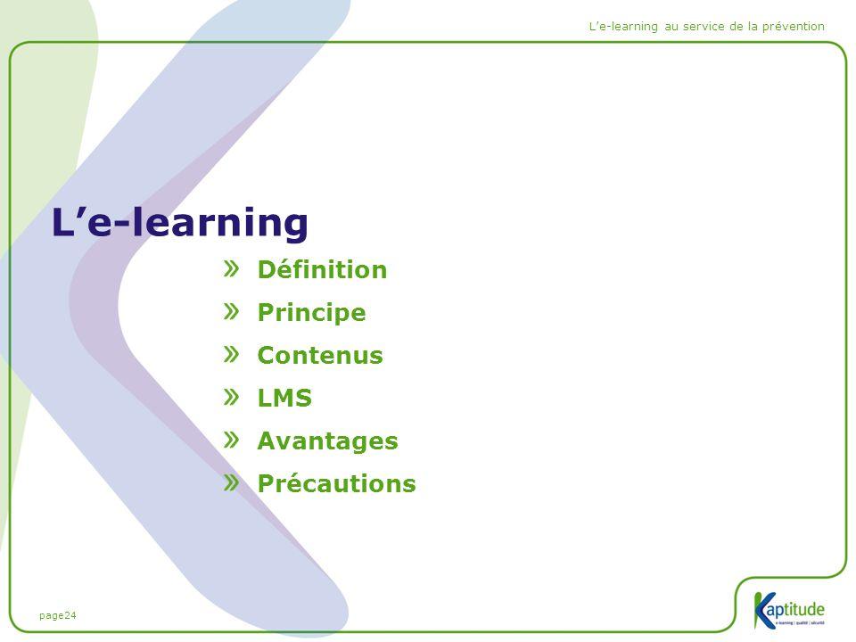 L'e-learning Définition Principe Contenus LMS Avantages Précautions