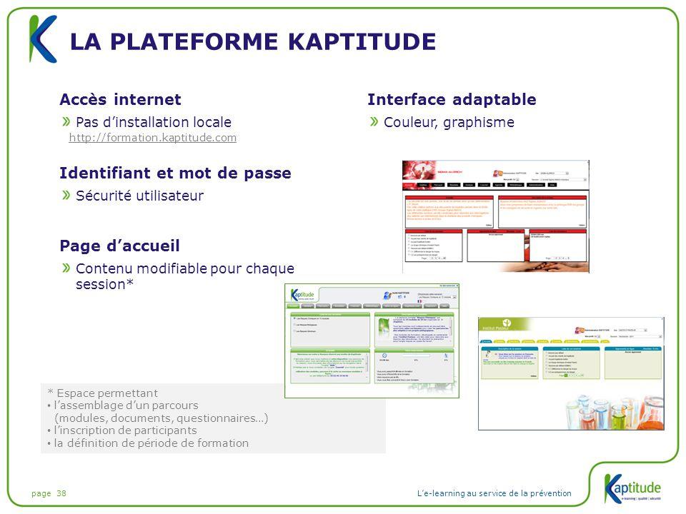 La plateforme kaptitude