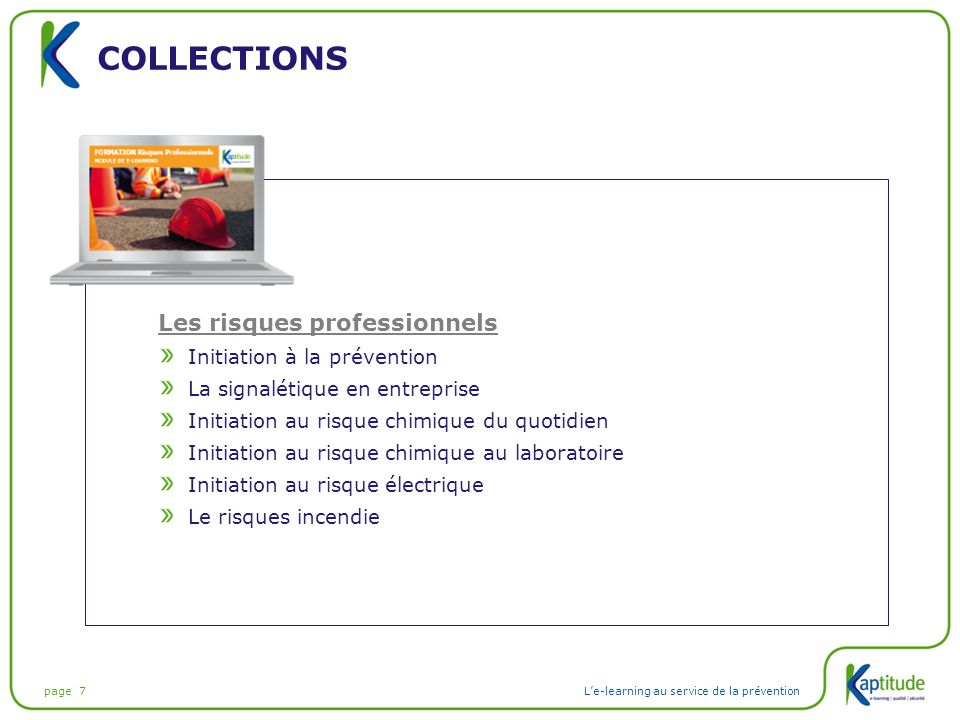 Collections Les risques professionnels Initiation à la prévention
