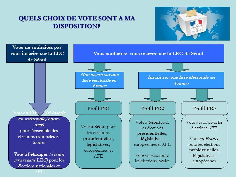 QUELS CHOIX DE VOTE SONT A MA DISPOSITION