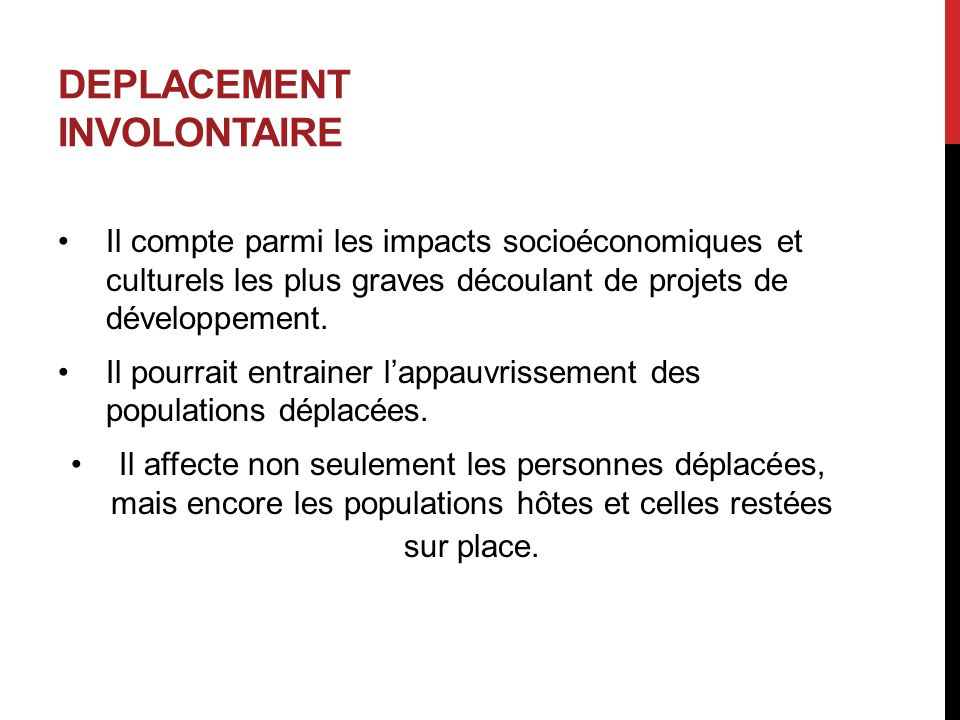 DEPLACEMENT INVOLONTAIRE