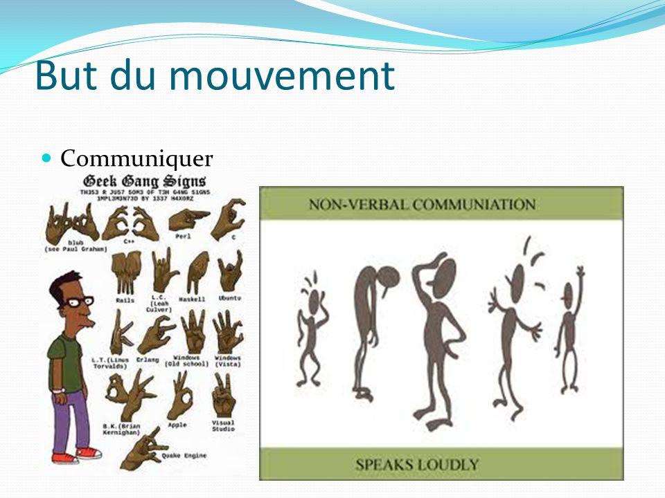 But du mouvement Communiquer