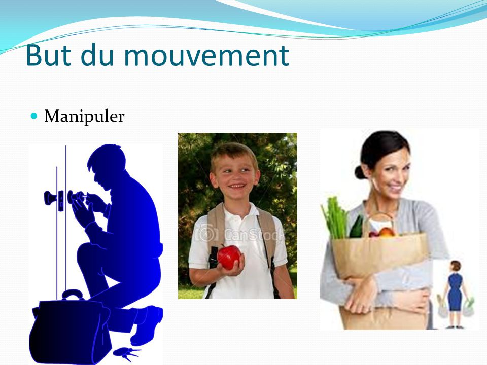 But du mouvement Manipuler