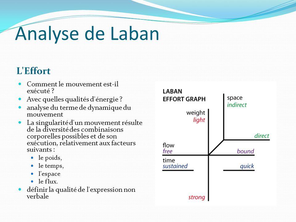 Analyse de Laban L Effort Comment le mouvement est-il exécuté