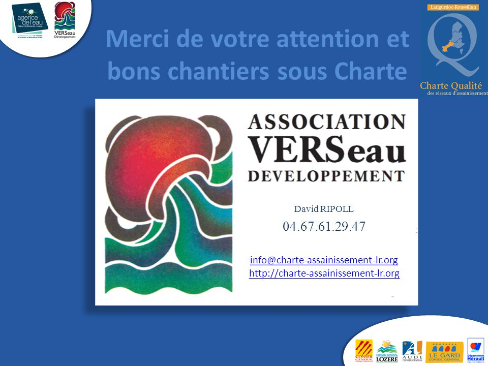 Merci de votre attention et bons chantiers sous Charte