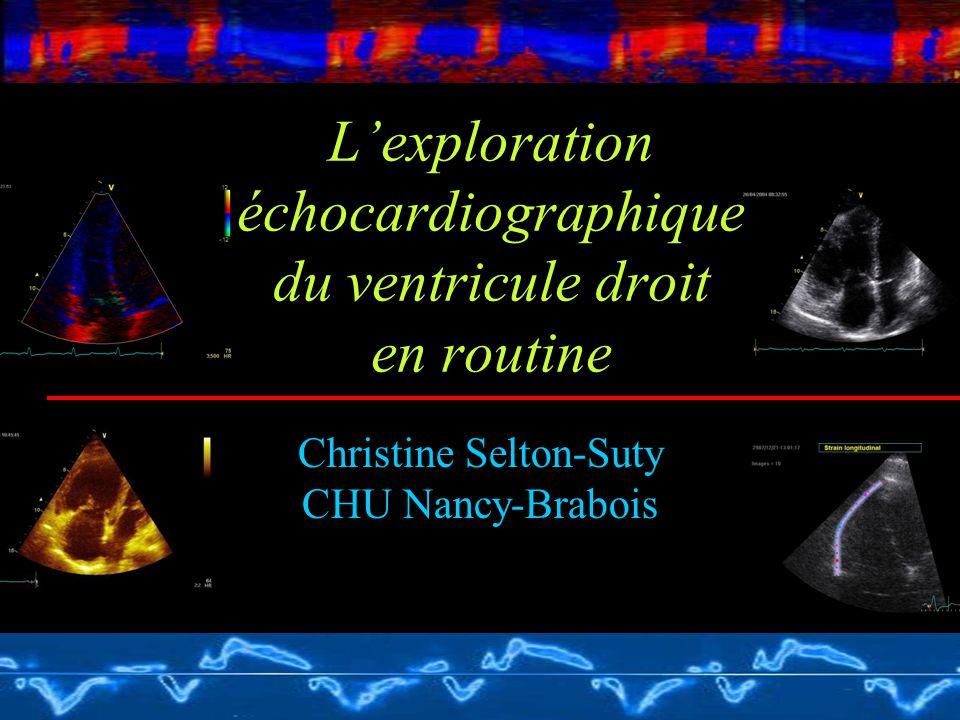L'exploration échocardiographique du ventricule droit en routine