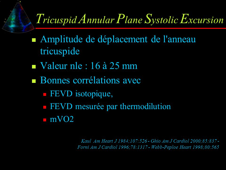 Tricuspid Annular Plane Systolic Excursion