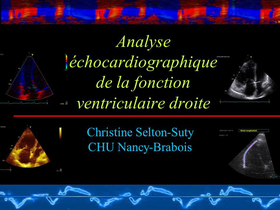 Analyse échocardiographique de la fonction ventriculaire droite