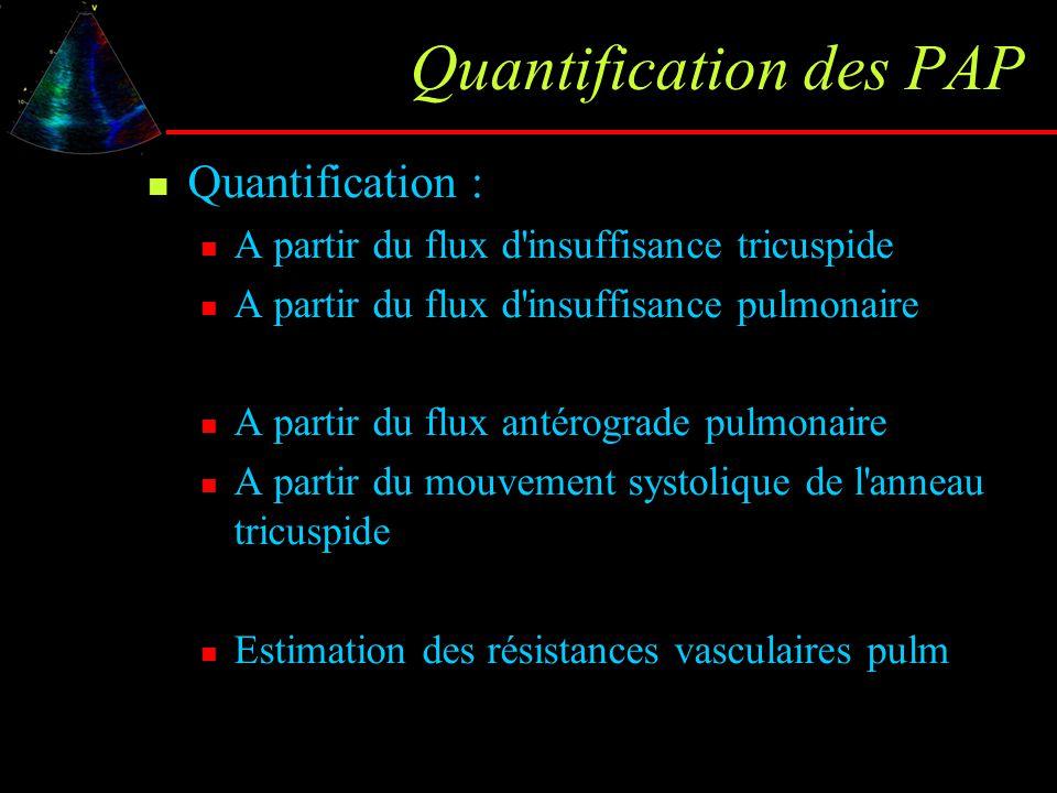 Quantification des PAP