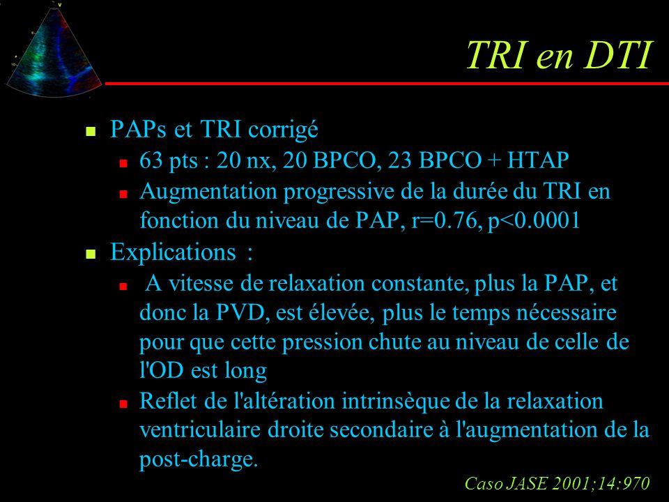 TRI en DTI PAPs et TRI corrigé Explications :