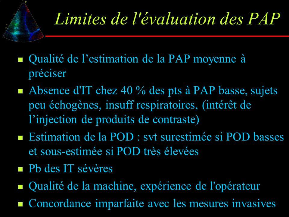 Limites de l évaluation des PAP