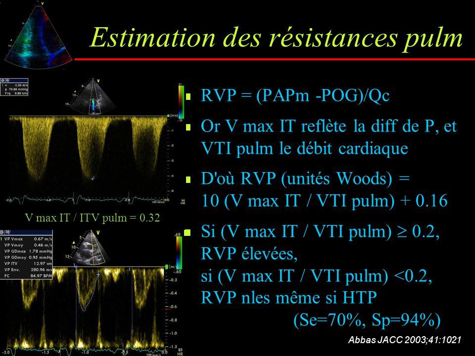 Estimation des résistances pulm