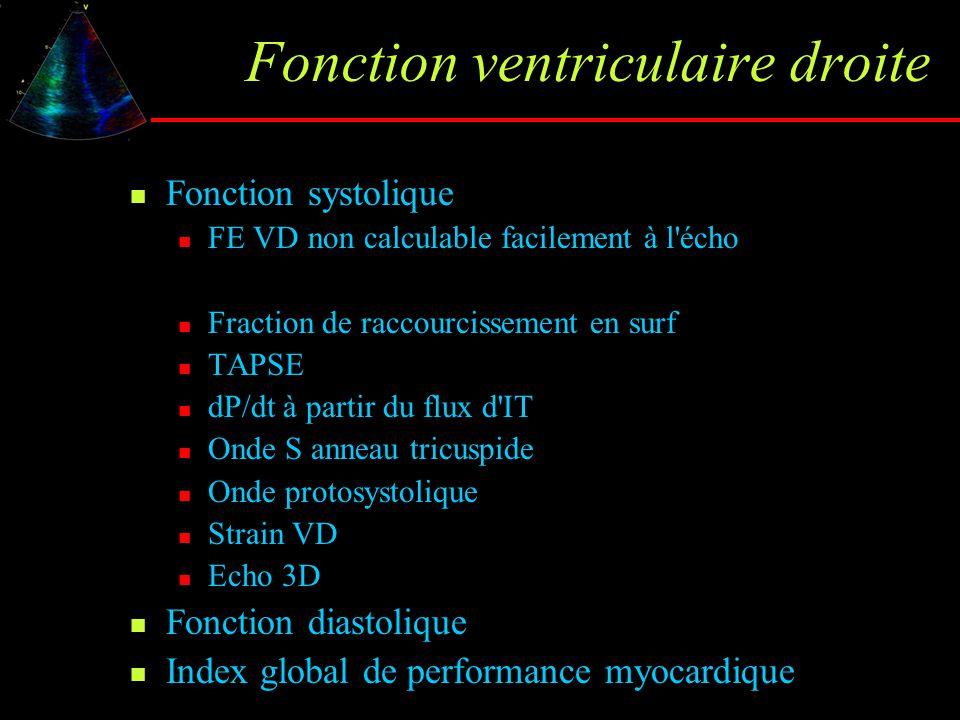 Fonction ventriculaire droite