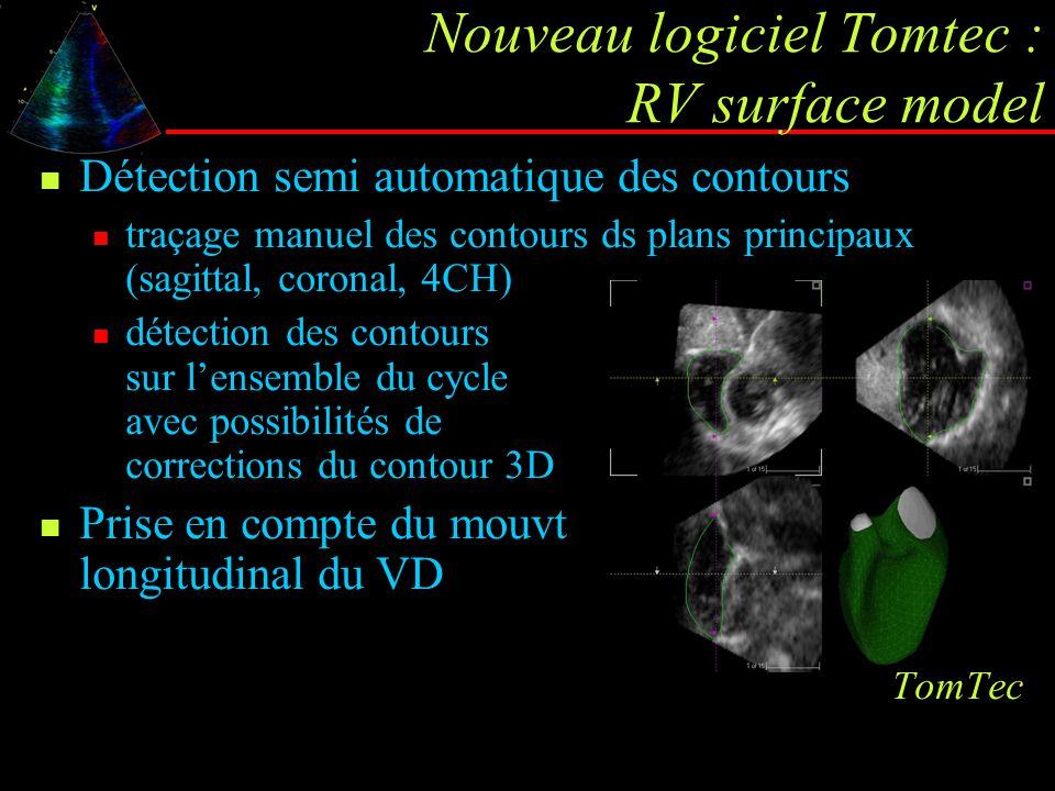 Nouveau logiciel Tomtec : RV surface model
