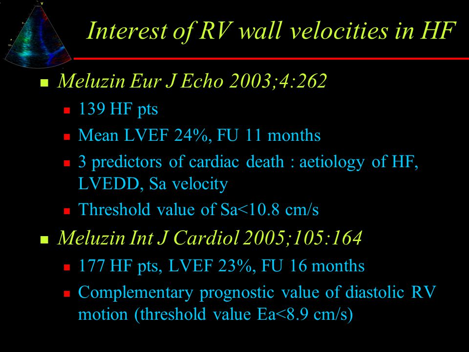 Interest of RV wall velocities in HF