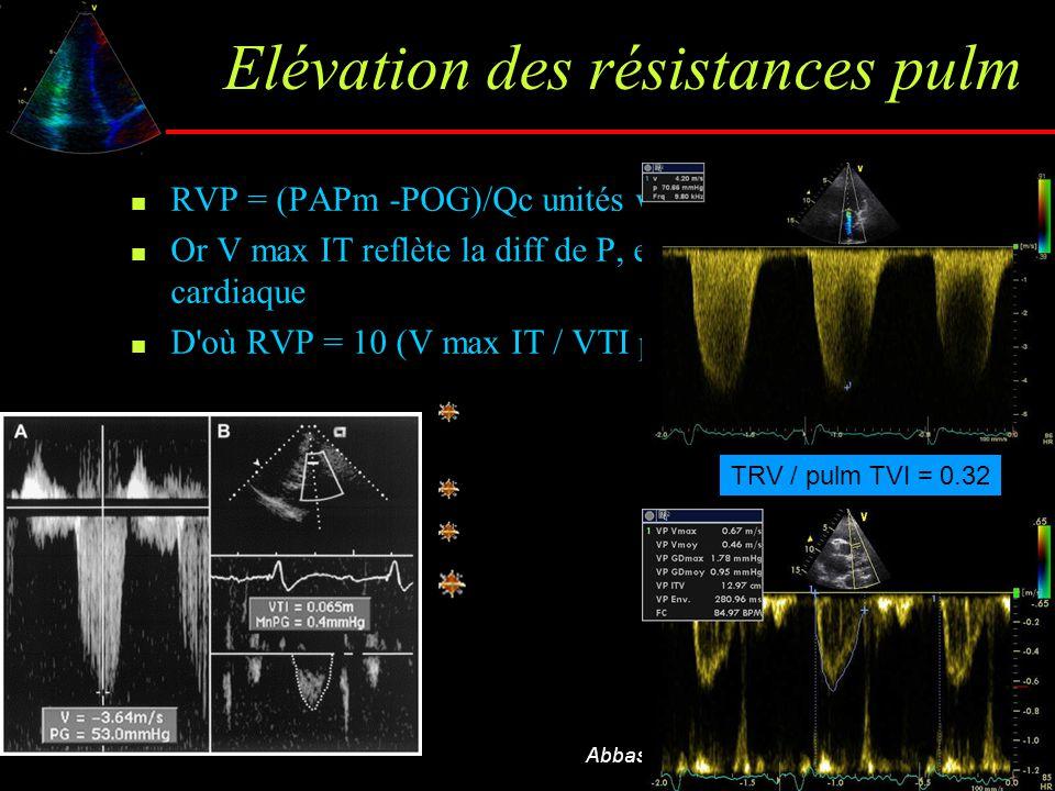 Elévation des résistances pulm
