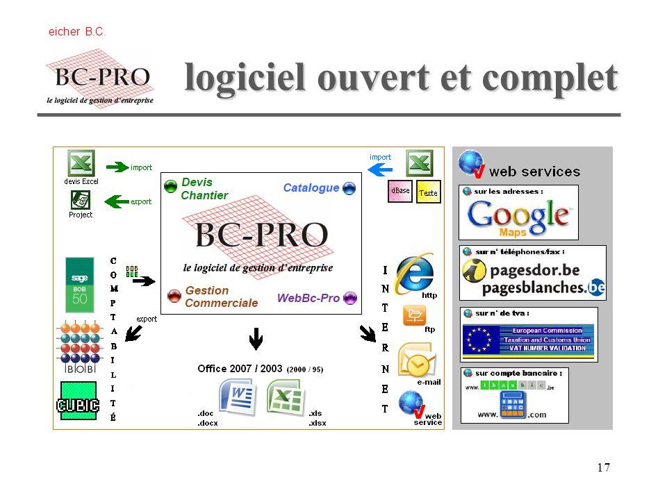 logiciel ouvert et complet