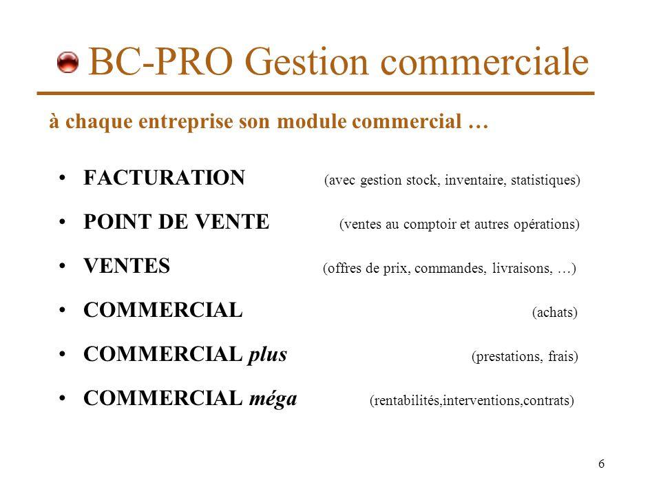 BC-PRO Gestion commerciale