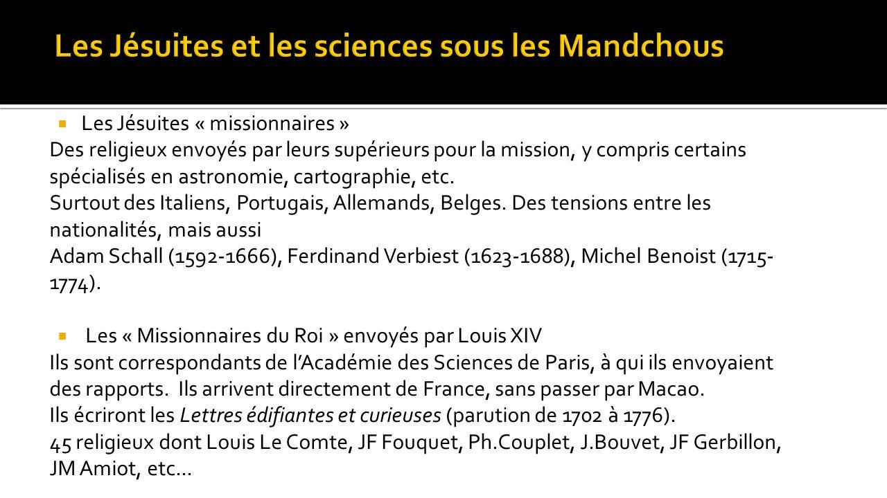 Les Jésuites et les sciences sous les Mandchous