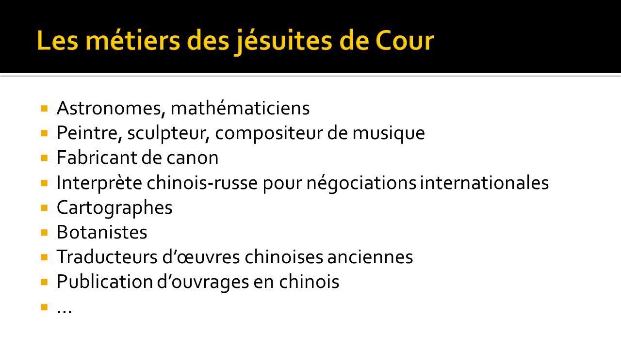 Les métiers des jésuites de Cour