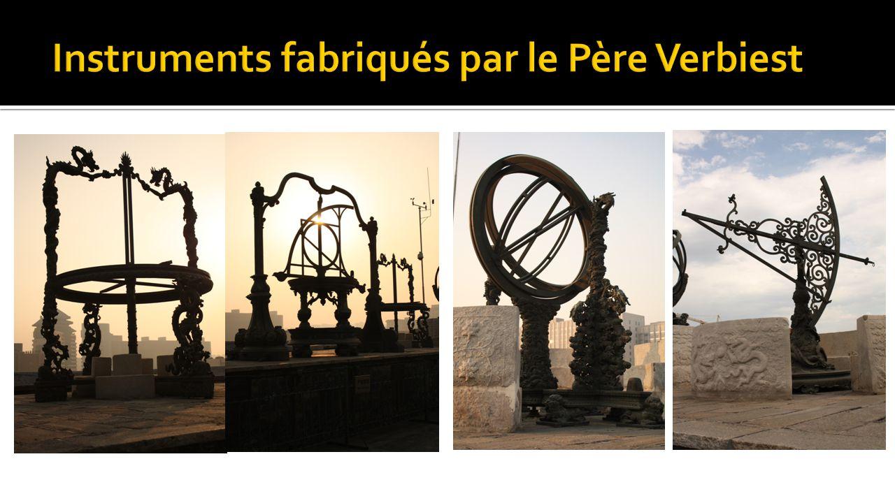 Instruments fabriqués par le Père Verbiest