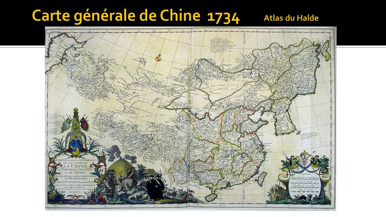 Carte générale de Chine 1734 Atlas du Halde