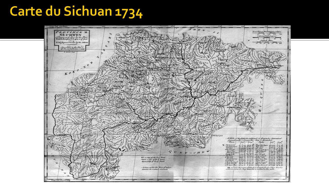 Carte du Sichuan 1734